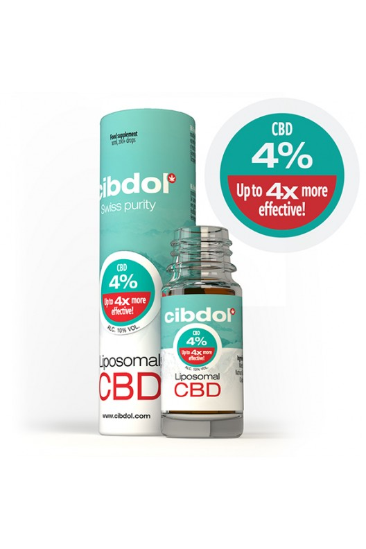Image of   10ml Cibdol Lipsomal Cannabisolie 4% / 400mg CBD